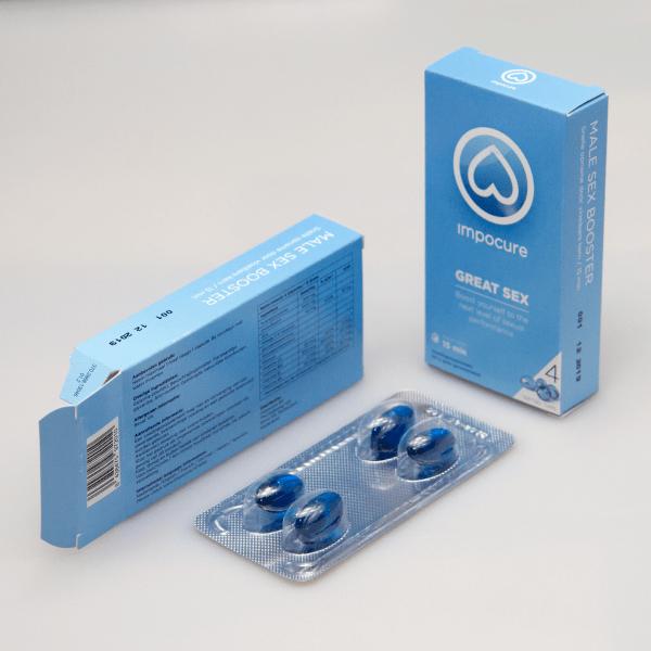 Verpakkingen van ImpoCure erectie pil