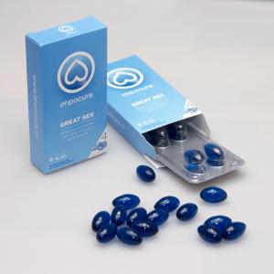 Losliggende ImpoCure pillen en 2 verpakkingen waarvan 1 geopend